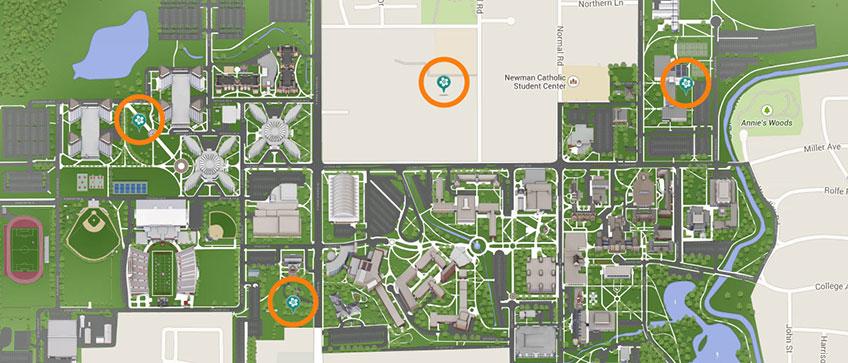 Locations Niu Communiversity Gardens