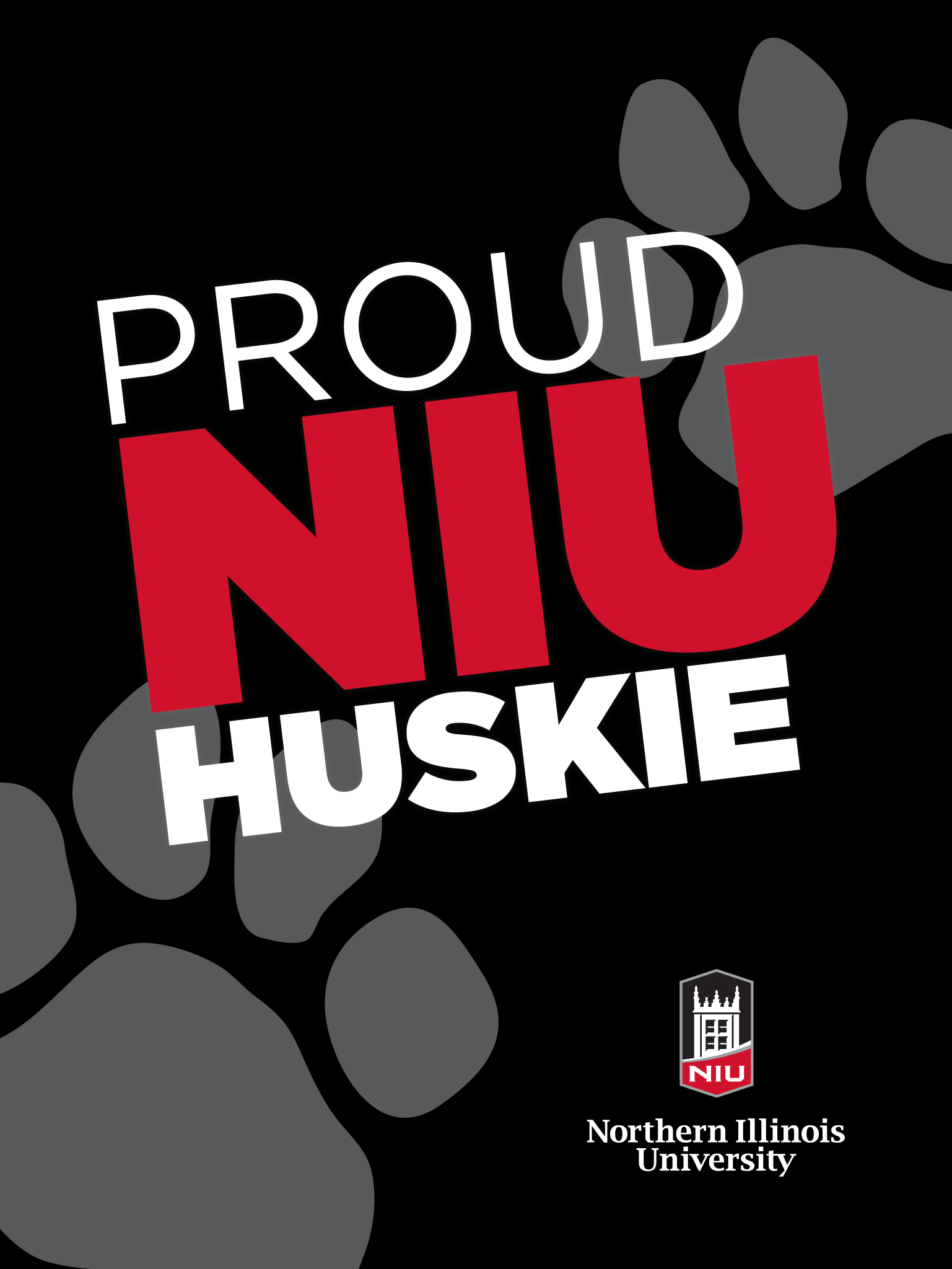 Proud Huskie - Black for iPad