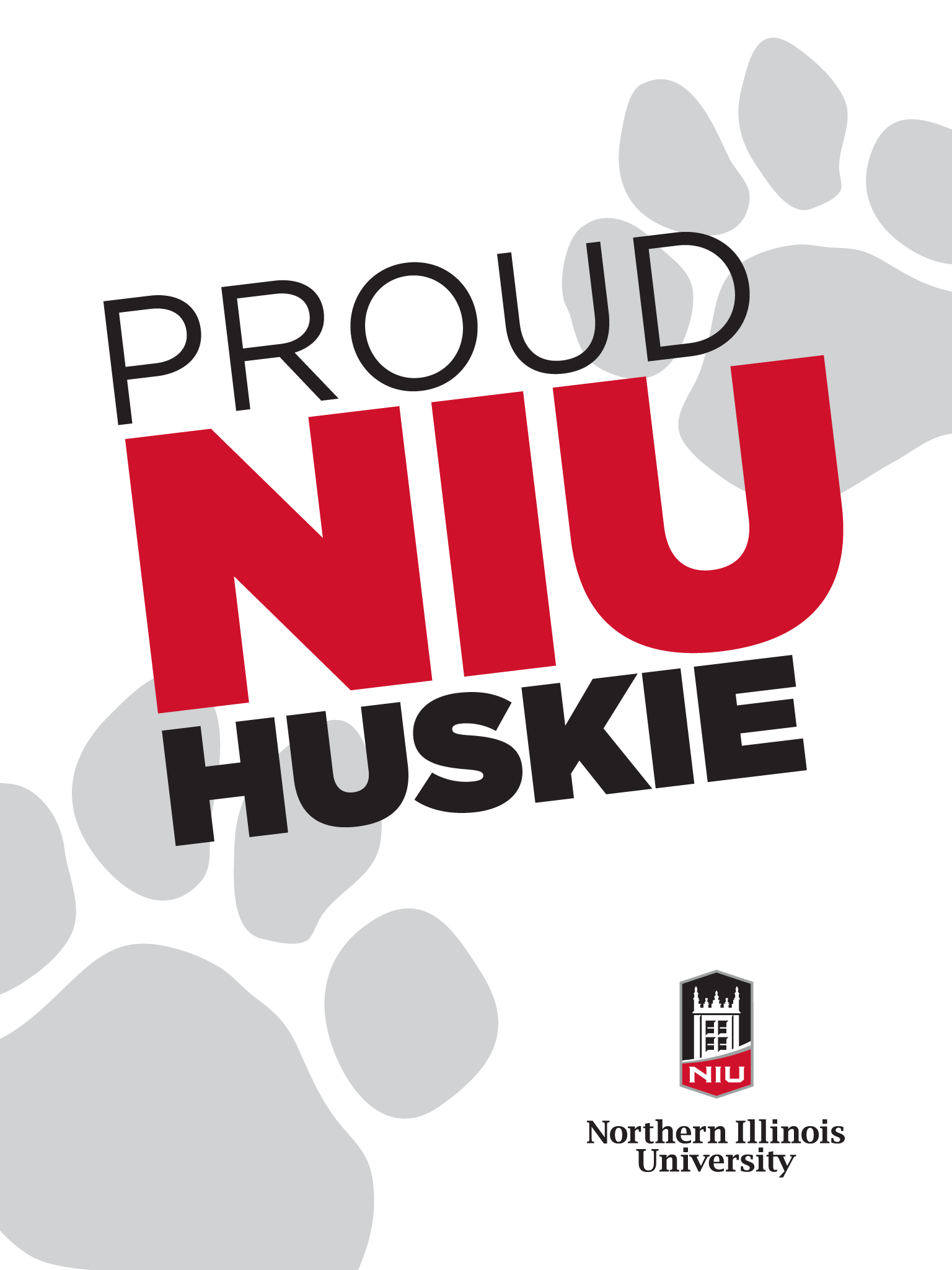 Proud Huskie - white for iPad