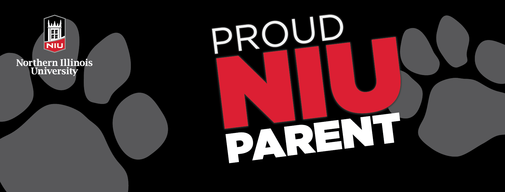 Proud Huskie Parent - Black for Profile
