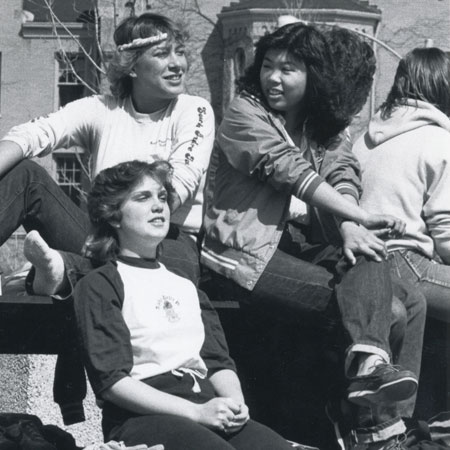 NIU students on campus in 1986.