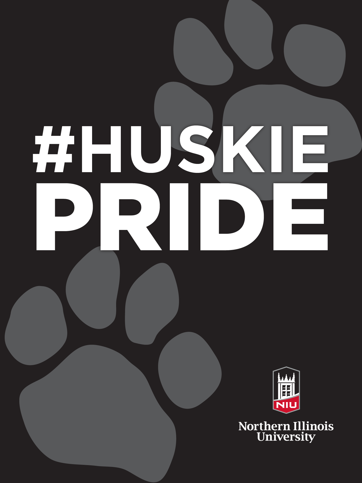 Huskie Pride - Black for iPad
