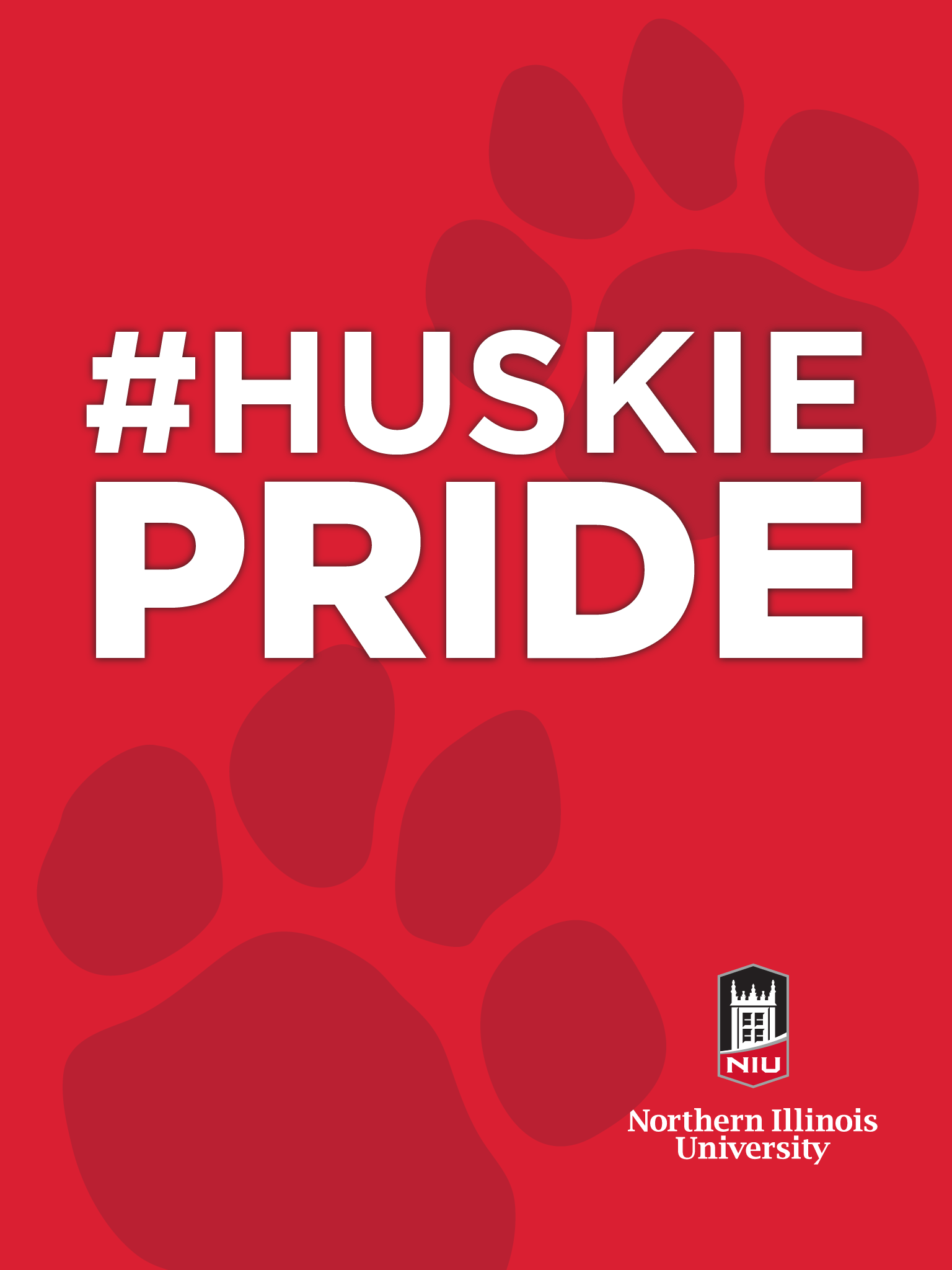 Huskie Pride - Red for iPad