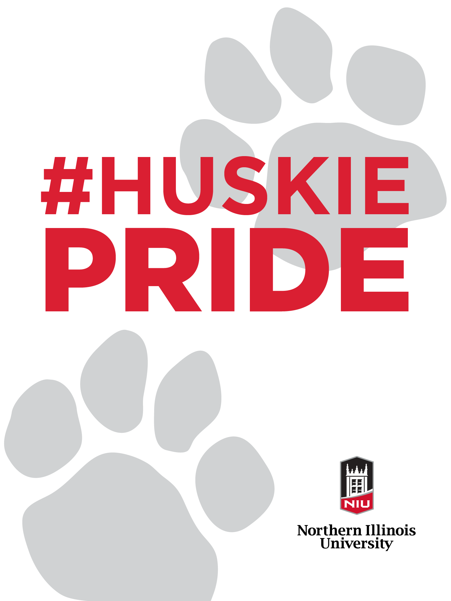 Huskie Pride - white for iPad