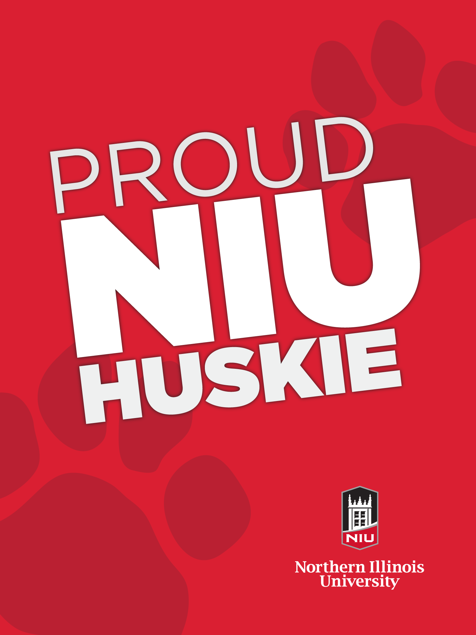 Proud Huskie - Red for iPad
